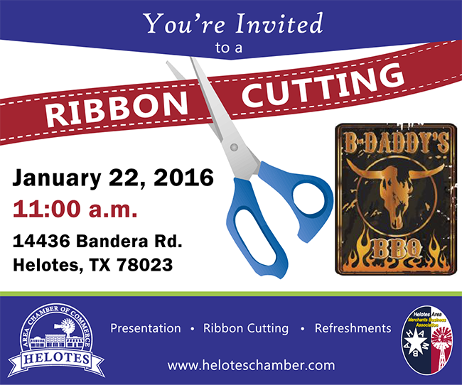 Ribbon Cutting - B Daddy's BBQ